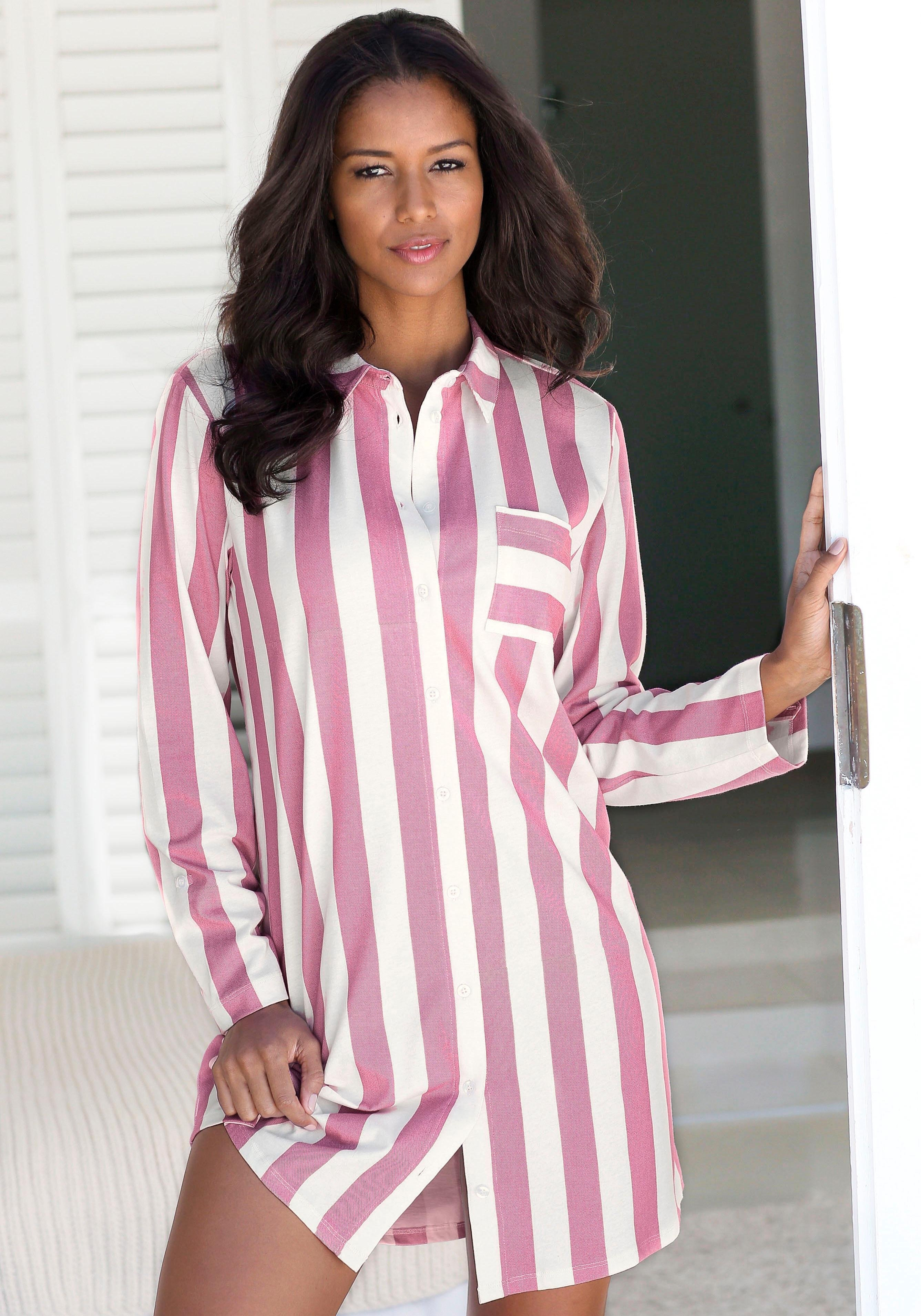 Vivance Collection Vivance Dreams nachthemd in overhemd-look bestellen: 14 dagen bedenktijd