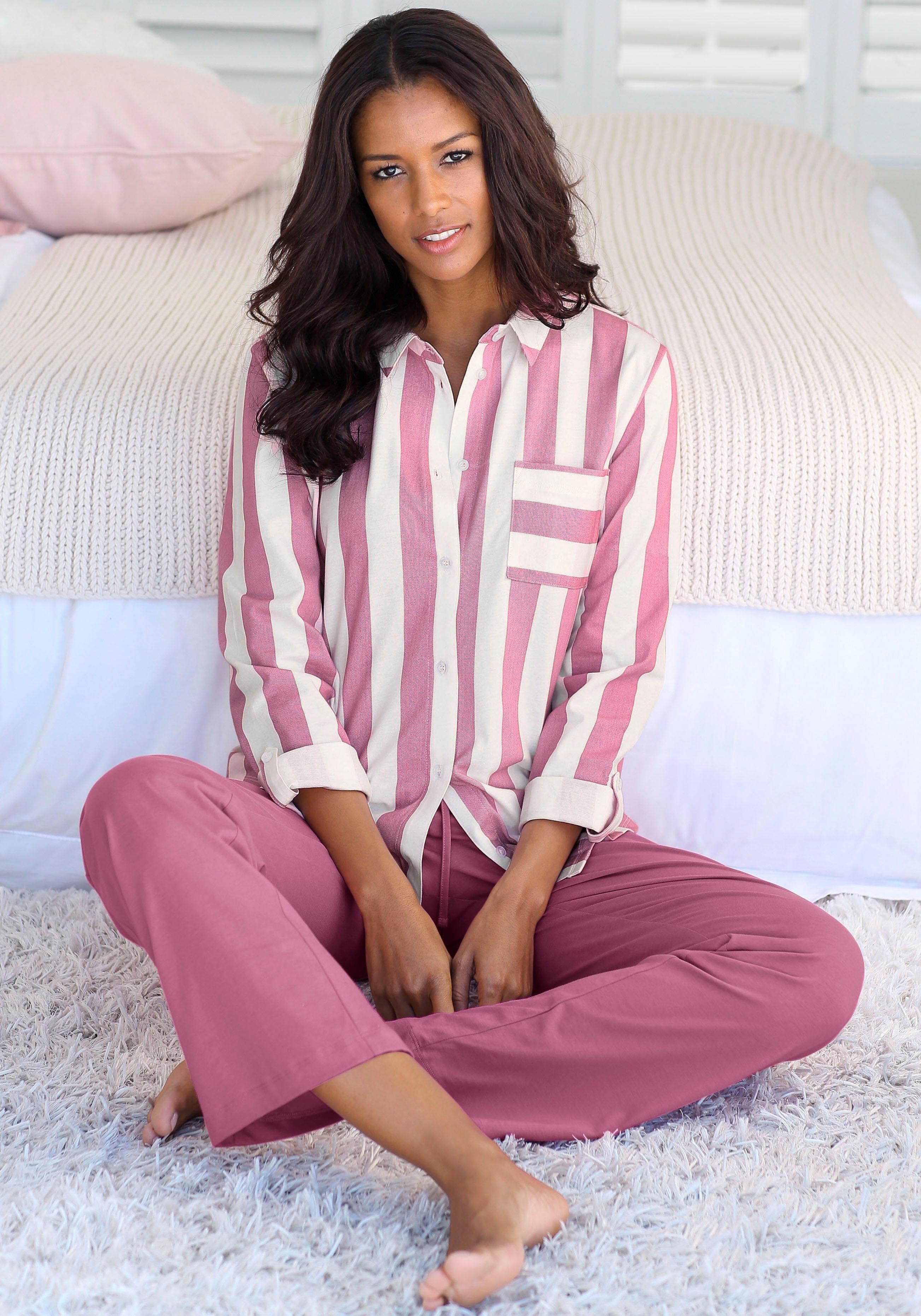 Op zoek naar een Vivance Collection Vivance Dreams pyjama in overhemd-look? Koop online bij OTTO