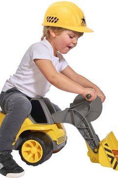 big speelgoed graafmachine big power worker maxi loader made in germany geel