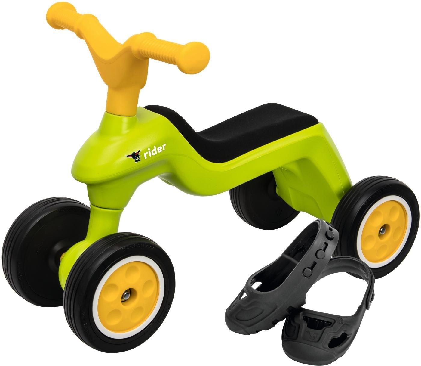 BIG loopwagen inclusief schoenbeschermers, »BIG Rider + BIG Shoe Care, groen/geel« bestellen: 30 dagen bedenktijd