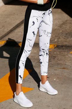 active by lascana legging met zakje in de band wit