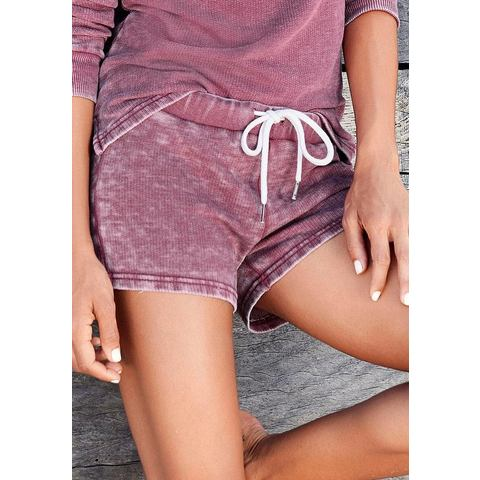 Bench short met coole washed-outeffecten