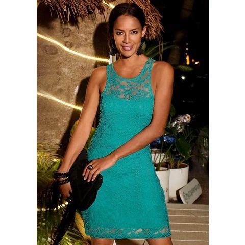 Lascana kanten jurk groen