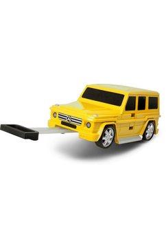 packenger harde trolley voor kinderen met 4 wieltjes, »mercedes-benz g63« geel