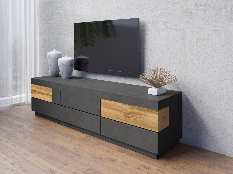 TRENDMANUFAKTUR tv-meubel Silke Breedte 206 cm, hoogglansfronten nu online bestellen