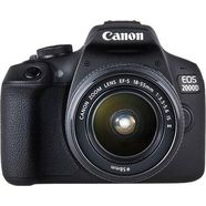 canon »eos 2000 d ef-s 18-55 is ii kit« spiegelreflexcamera (ef-s 18-55 is ii, 24,1 mp, nfc wifi zwart