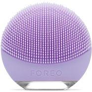 foreo compacte gezichtsreinigingsborstel luna go voor de gevoelige huid, anti-agingapparaat paars