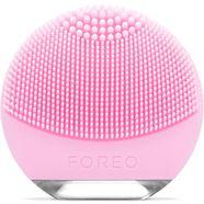foreo elektrische gezichtsreinigingsborstel luna go voor normale huid roze