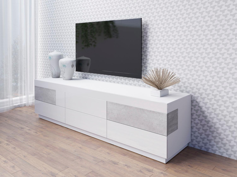 Helvetia Meble tv-meubel Silke Breedte 206 cm, hoogglansfronten nu online bestellen