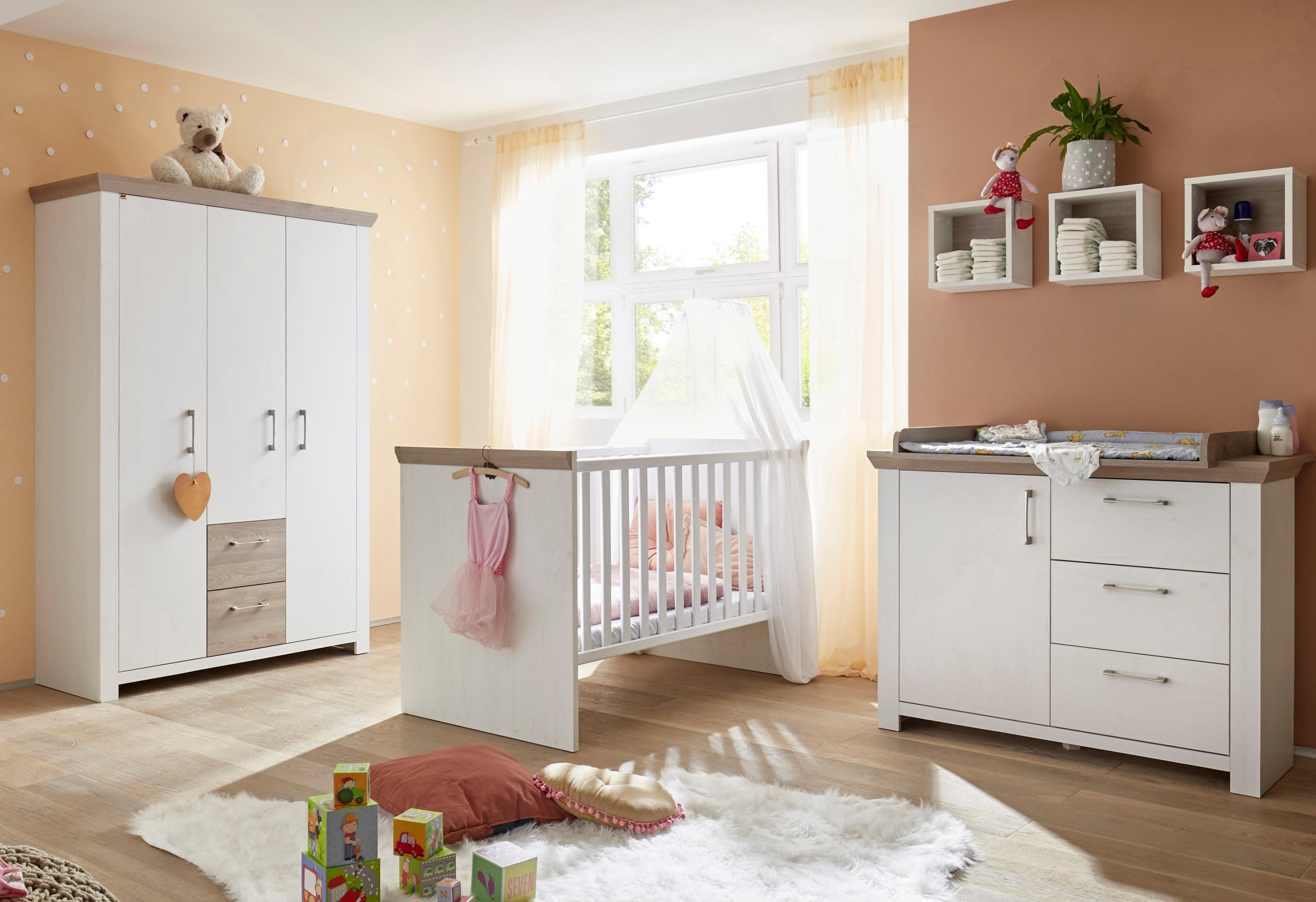 Complete Babykamer 3 Delig.Complete Babykamer Stralsund Ledikant Commode Kledingkast 3