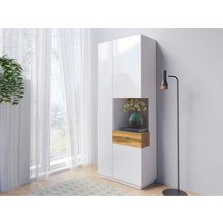 helvetia meble vitrinekast silke hoogte 207 cm wit
