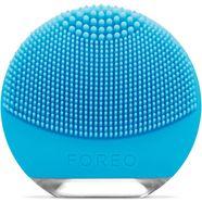 foreo compacte gezichtsreinigingsborstel luna go voor de gemengde huid, anti-agingapparaat blauw