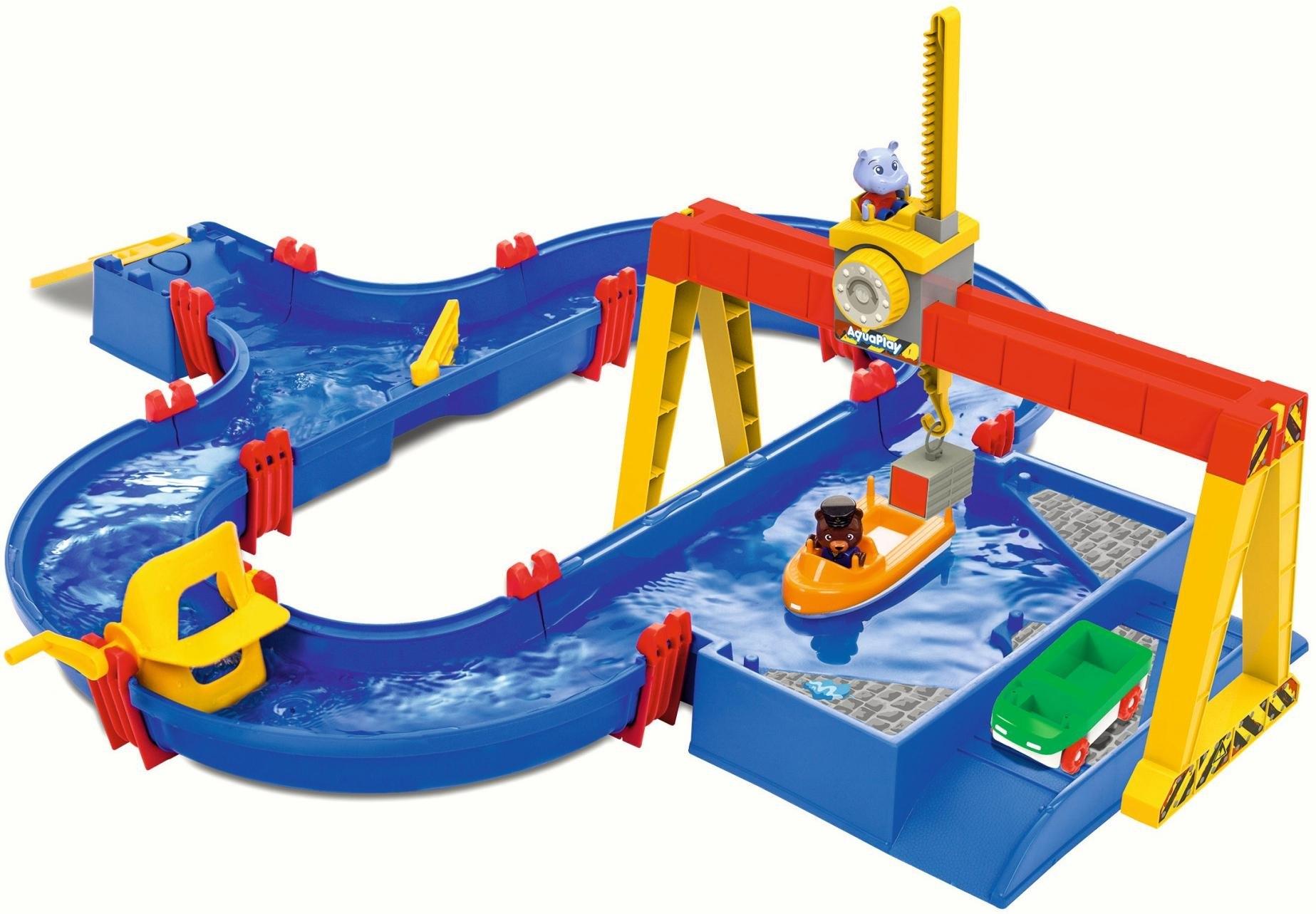 Big waterbaan met boot, amfibie-auto en veel accessoires, »AquaPlay ContainerPort« bestellen: 14 dagen bedenktijd