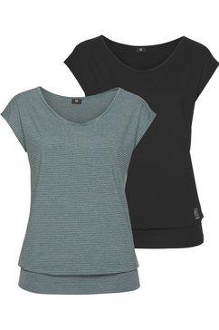 h.i.s functioneel shirt (set van 2) zwart