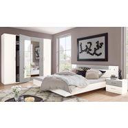 wimex slaapkamerserie angie (set, 4 stuks) wit