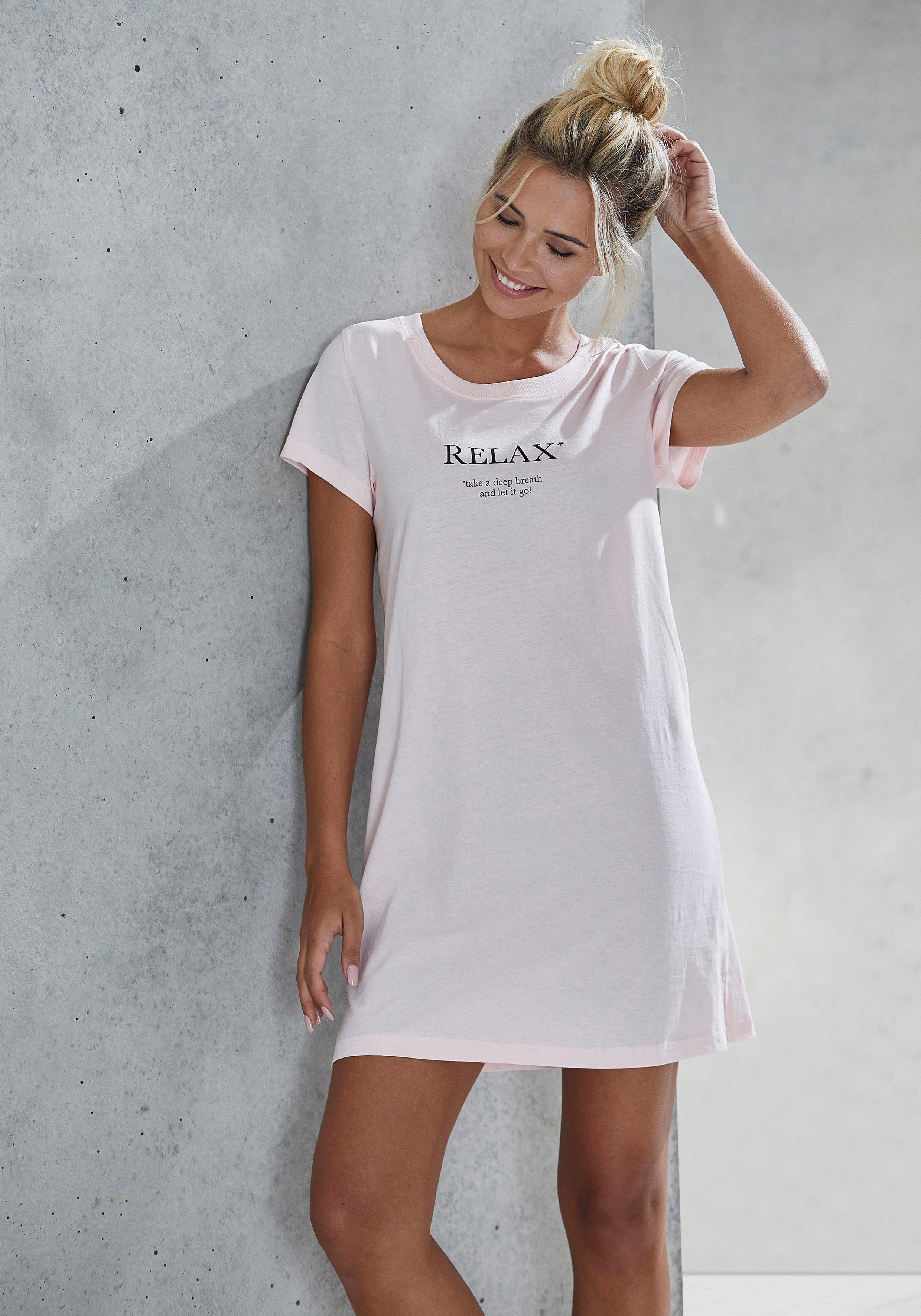 Vivance Dreams nachthemd met statementprint voordelig en veilig online kopen