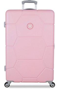 suitsuit harde trolley 'caretta, 75 cm', 4 wieltjes roze