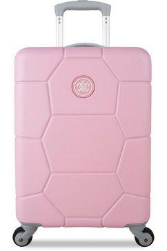 suitsuit harde trolley met 4 wieltjes, »caretta, 55 cm« roze