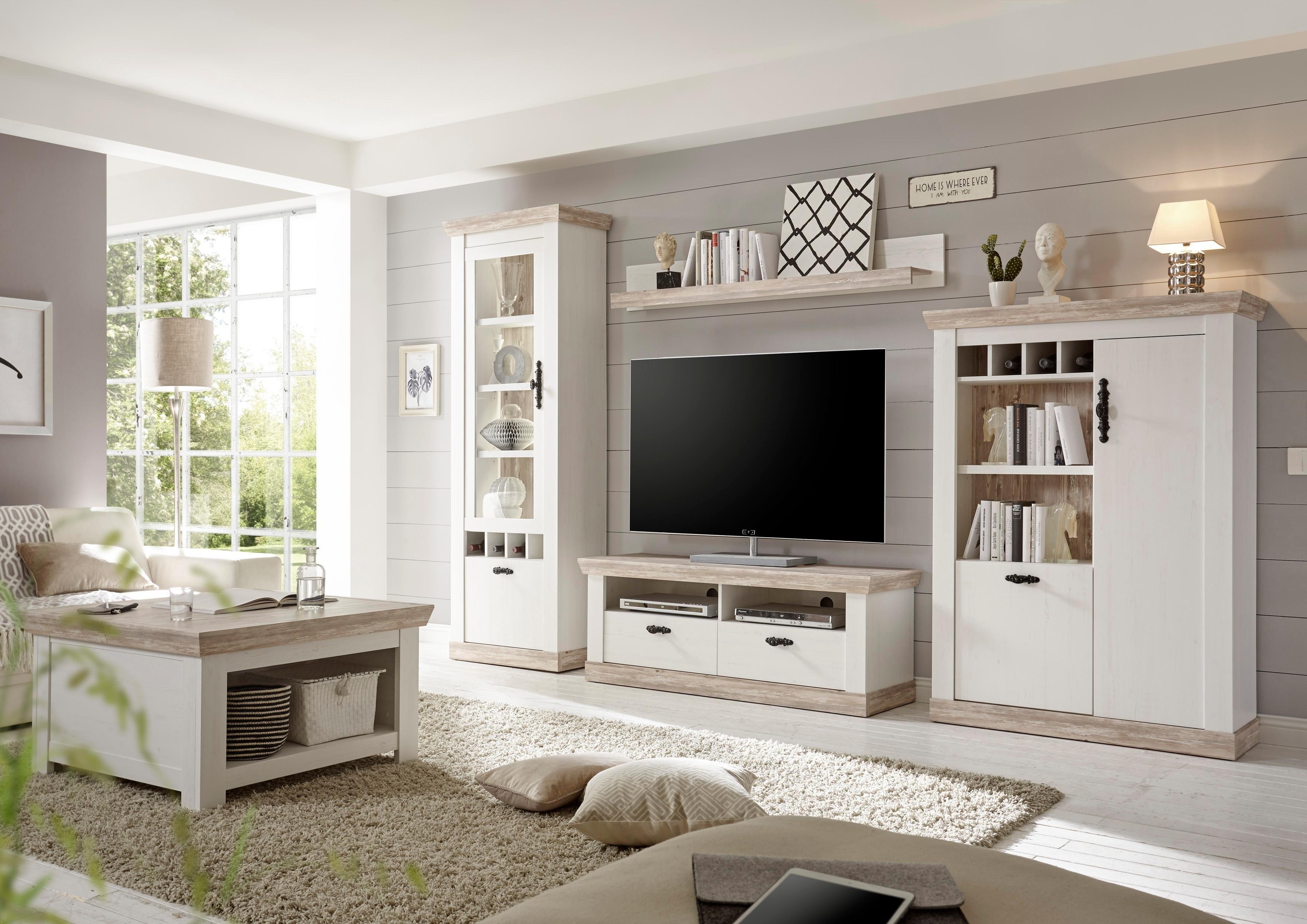 Home Affaire wandmeubel »Florenz 6 « (4-delig), in romantische landhuis-look. veilig op otto.nl kopen