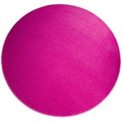 living line rond vloerkleed trend van velours roze