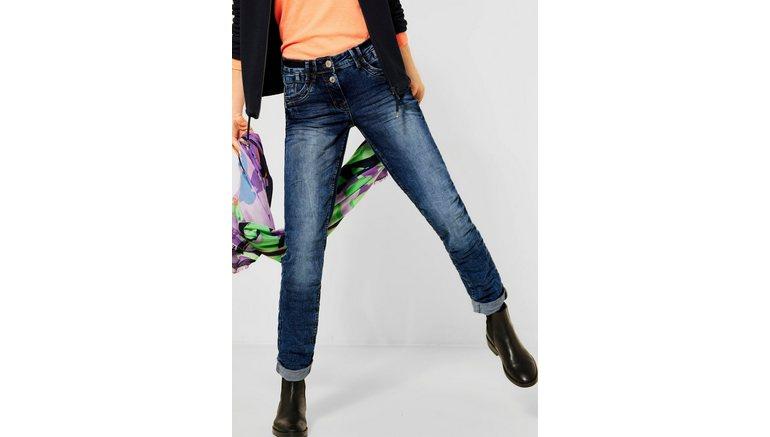 Cecil loose fit jeans Stijl Scarlett met contrasterende stiksels