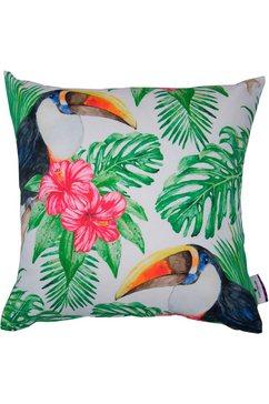kussenovertrek, »colorul toucan«, tom tailor wit