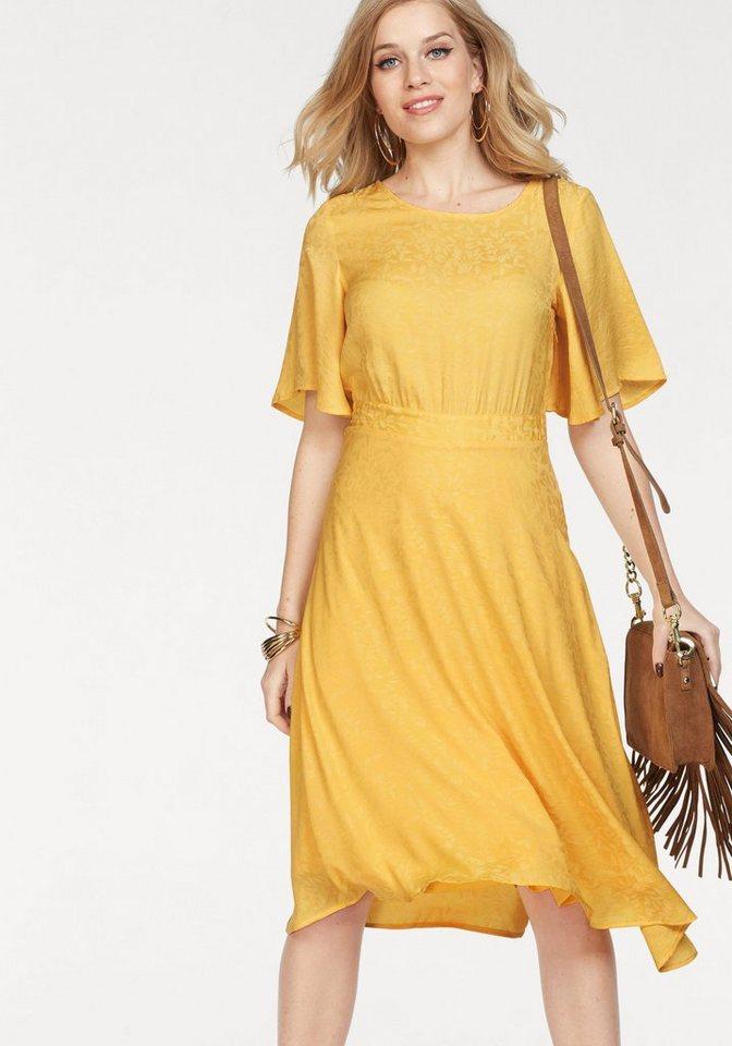 Vero Moda satijnen jurk LOU geel