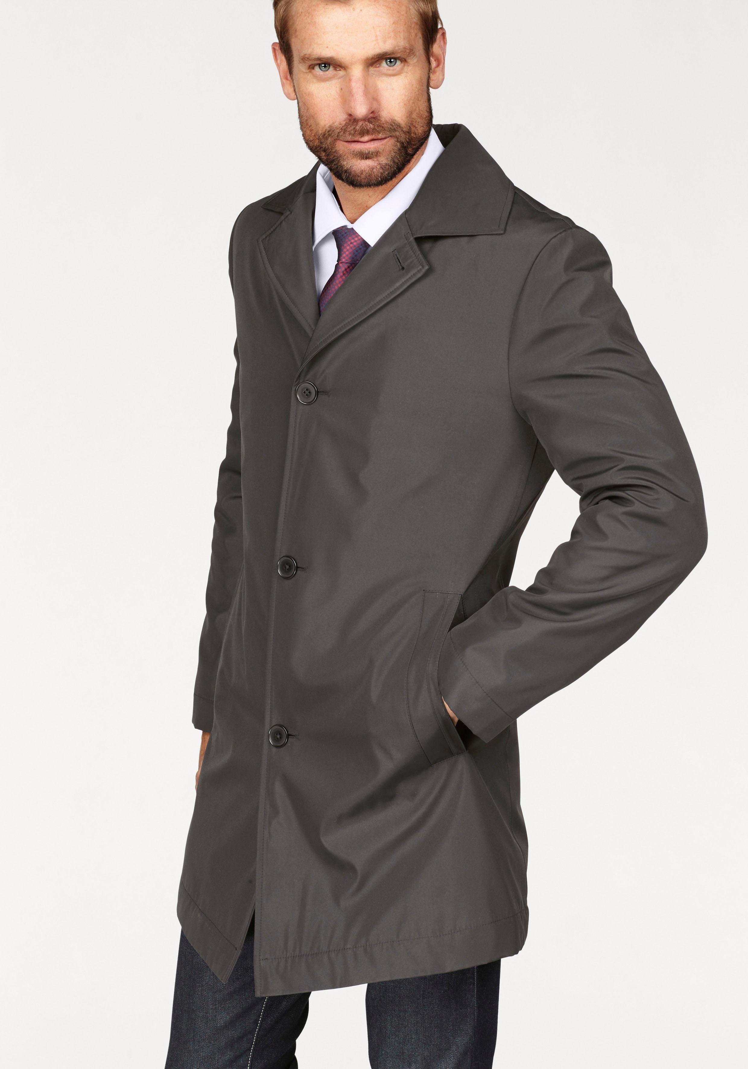 Wollen mantel heren zwart