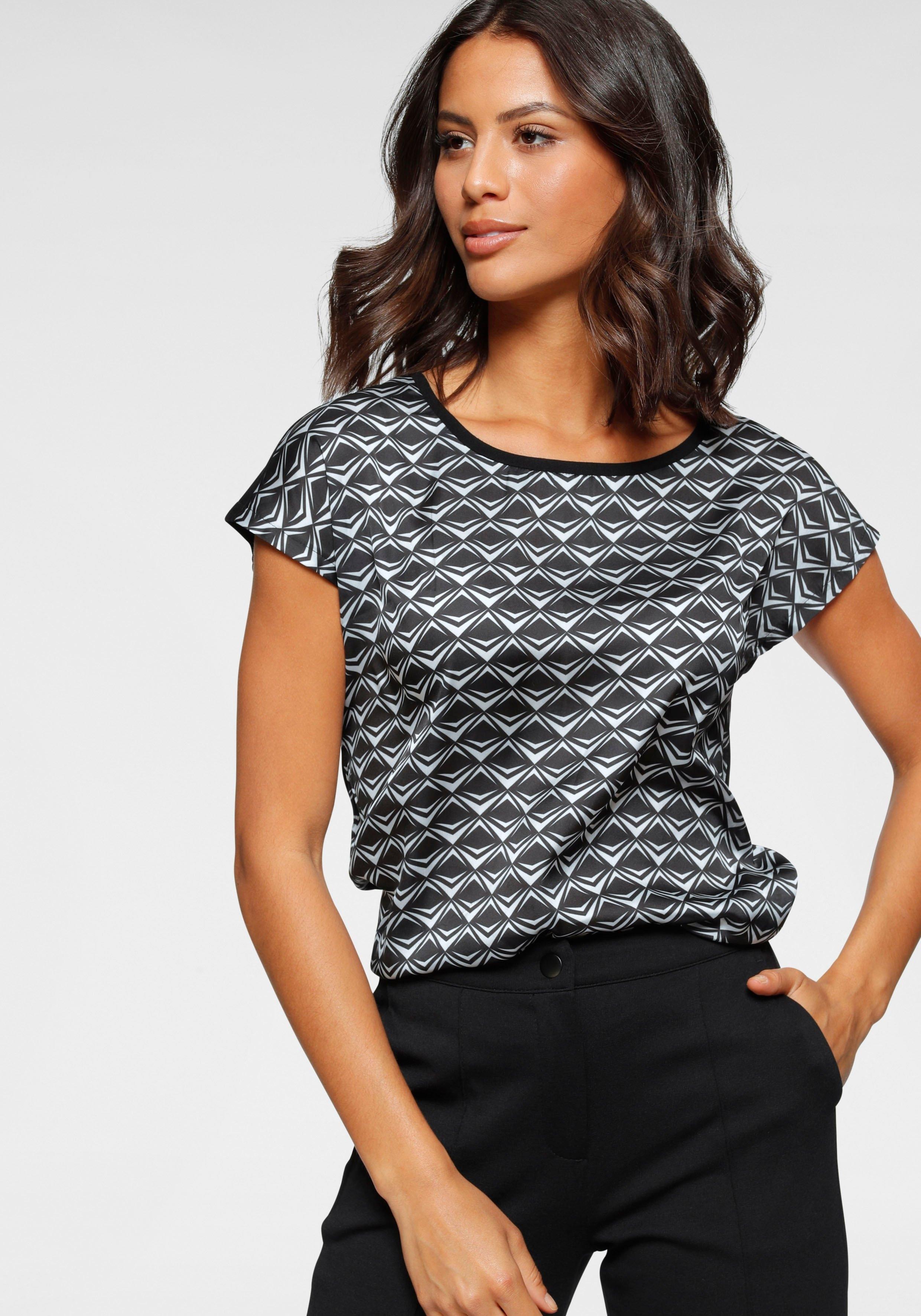 Bruno Banani gedessineerde blouse nu online bestellen