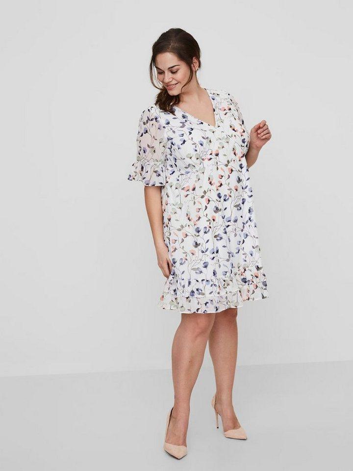 Junarose Bloemen jurk wit
