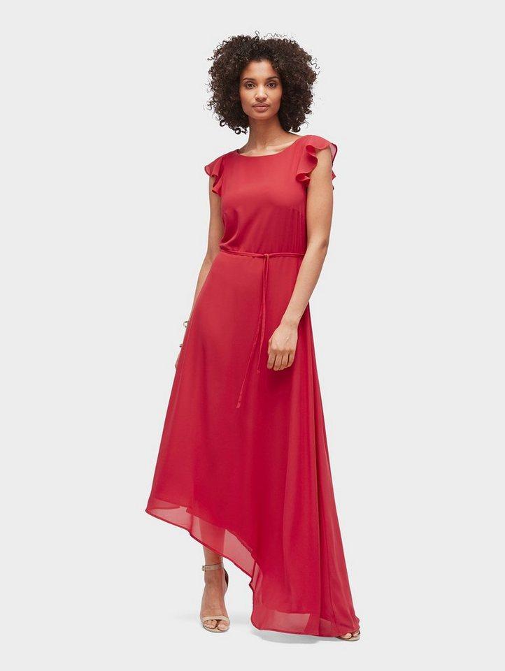 Tom Tailor chiffonjurk Naomi Campbell: chiffon-Kleid mit asymmetrischem Saum rood