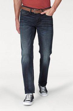 s.oliver five-pocketsjeans met riem blauw