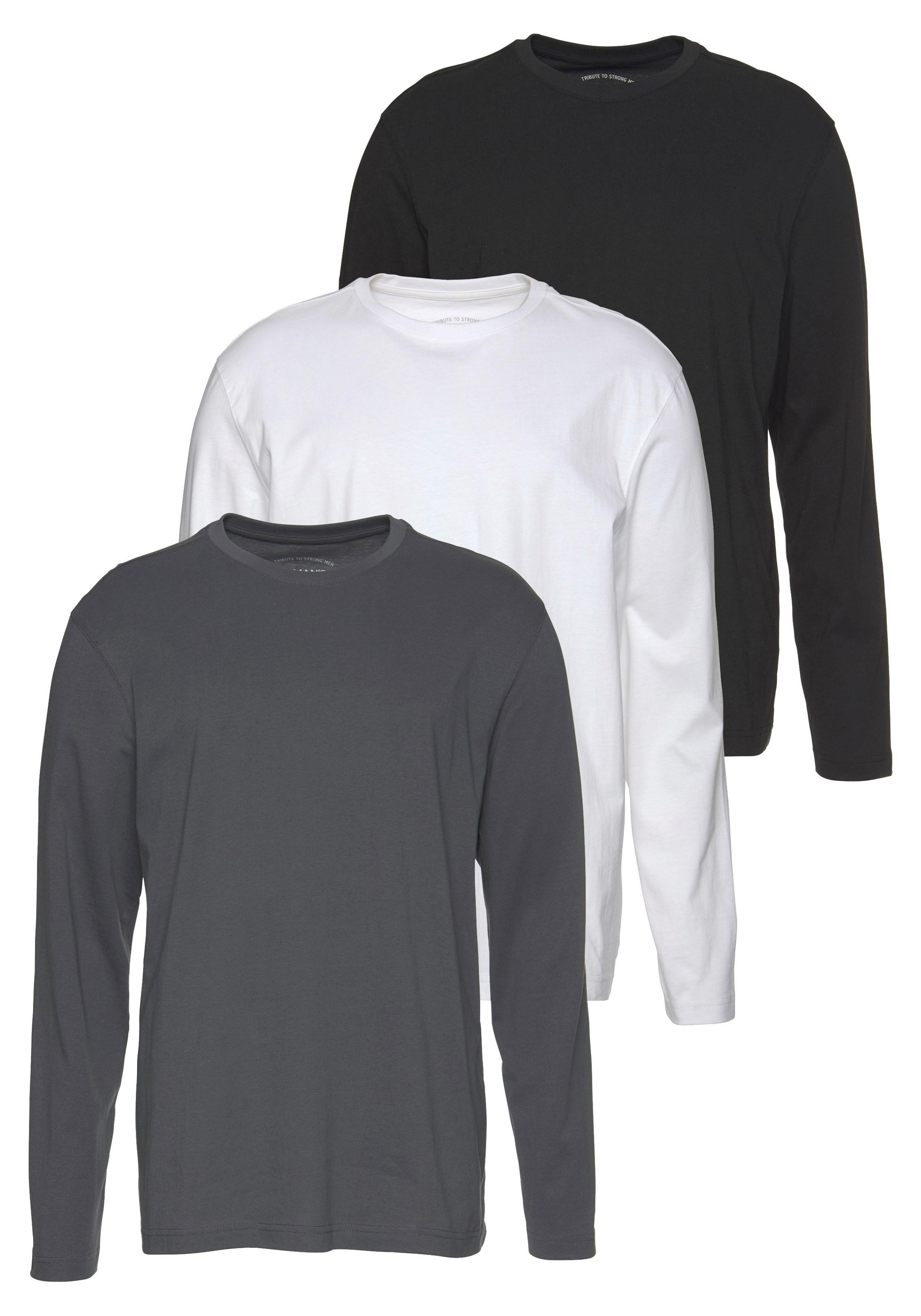 Man's World shirt met lange mouwen (set, 3-delig) bestellen: 30 dagen bedenktijd
