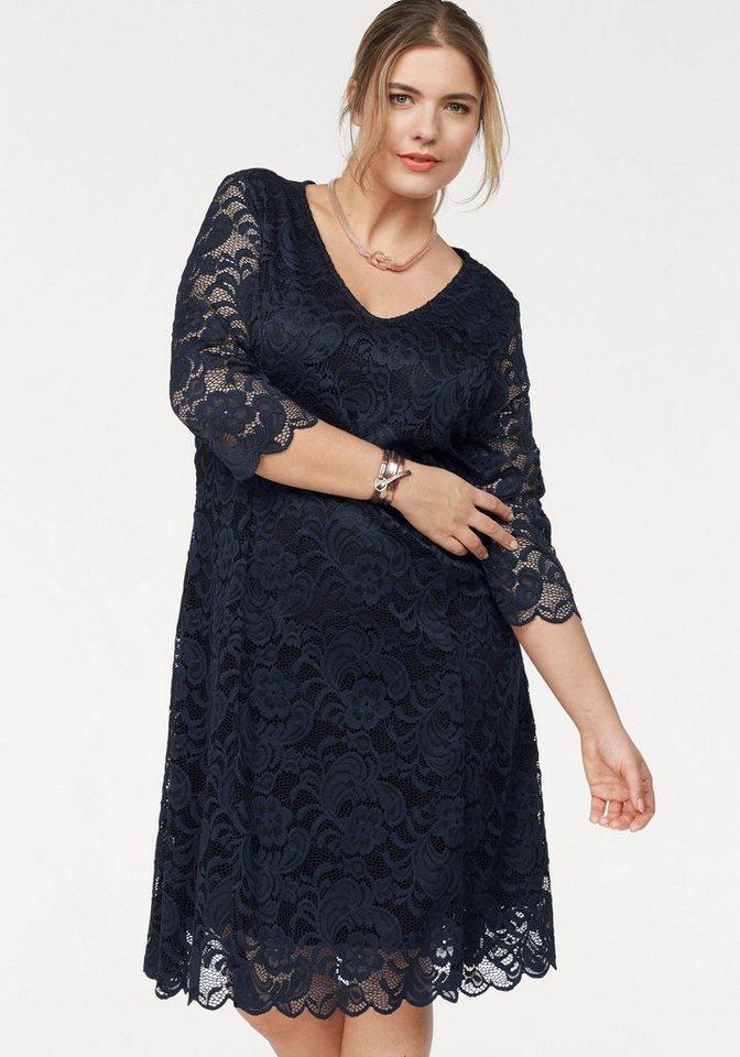 Junarose kanten jurk Emma blauw