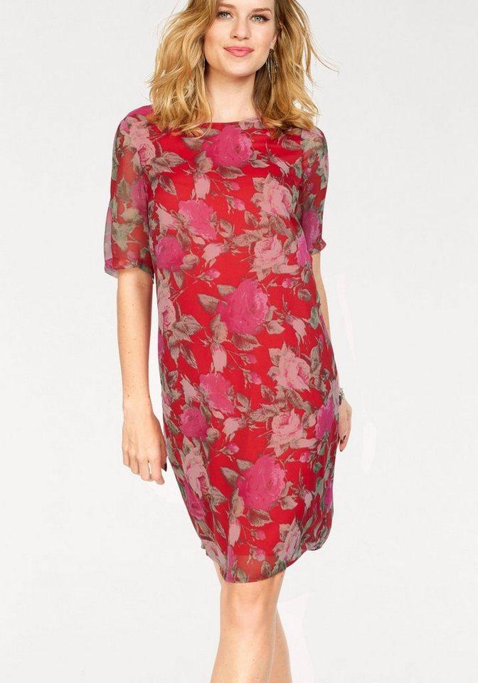 Vero Moda gedessineerde jurk LILI rood