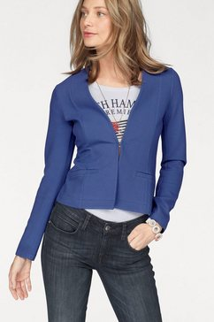 tom tailor sweatblazer blauw