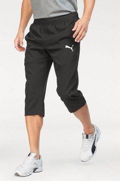 puma sportbroek »ess active woven 3-4 pants« zwart