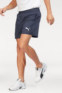 puma functionele short »ess active woven short 5''« blauw