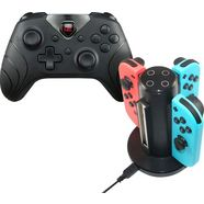 ready2gaming controller »nintendo switch bundle« (oplader voor 4 nintendo switch™ controllers) zwart