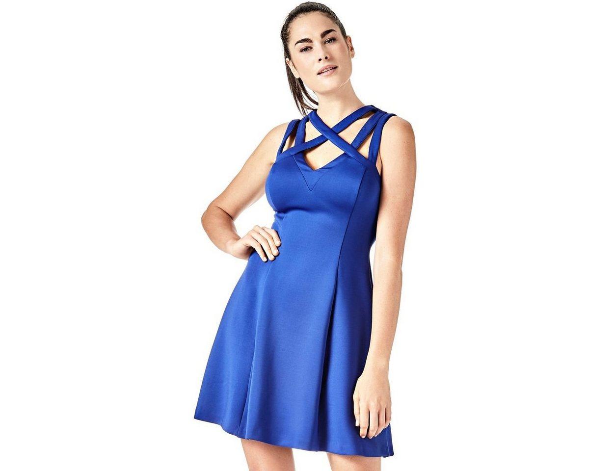 Guess jurk in A-lijn blauw
