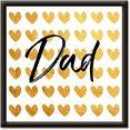 artland artprint gouden harten voor papa (1 stuk) goud