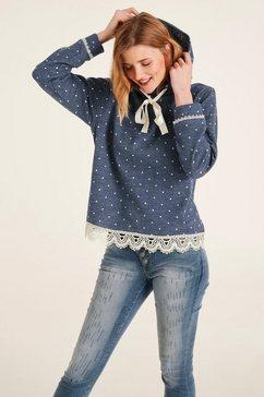 linea tesini by heine sweatshirt met een capuchon blauw