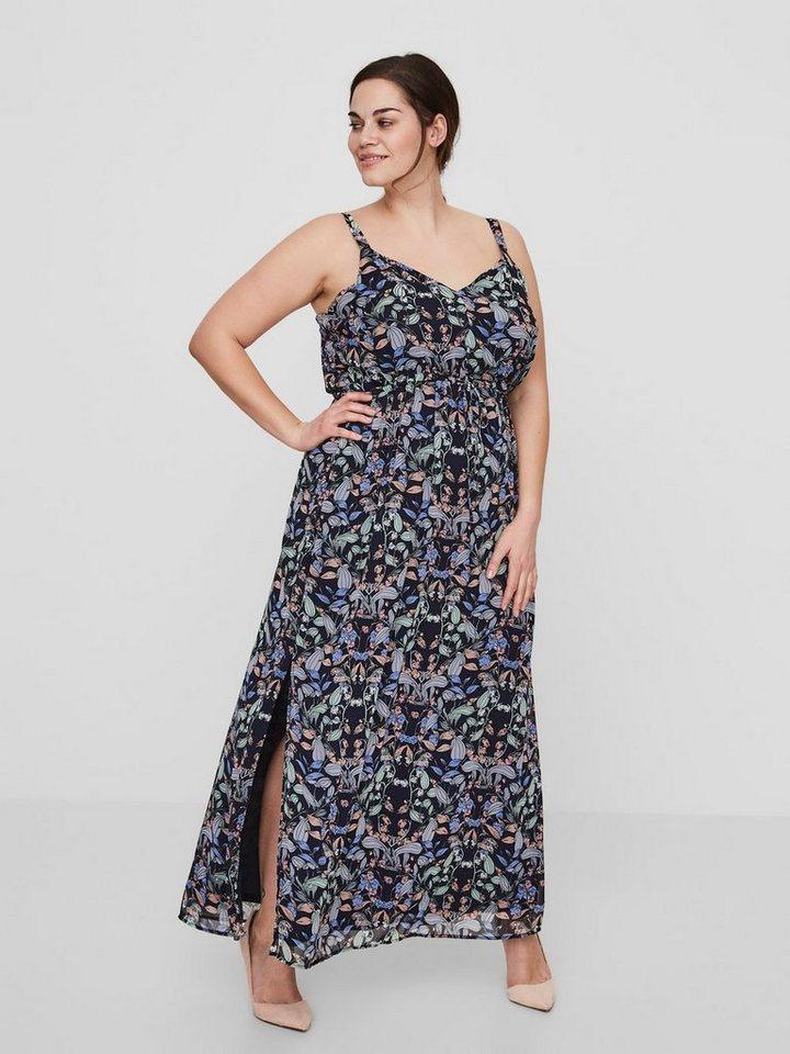Junarose Maxi bloemen jurk blauw