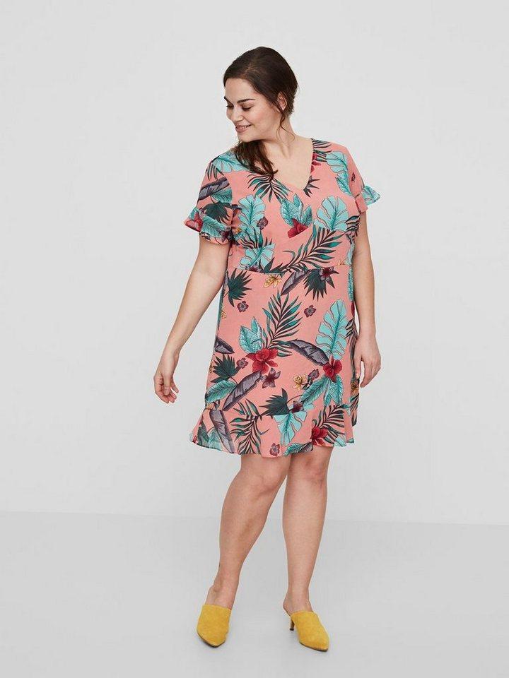 Junarose Bloemenprint jurk roze