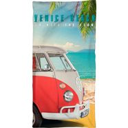 volkswagen strandlaken venice beach met bulli (1 stuk) multicolor