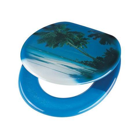 Badkameraccessoires Toiletzitting Koh Samui 216790 blauw