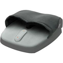 medisana voetmassageapparaat fm 885, shiatsumassage van voetzolen en hielen grijs