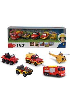 dickie toys speelgoedauto feuerwehrmann sam 5er pack