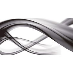 home affaire glazen artprint »b. bocos: abstracte compositie (sxw)«, 125x50 cm zwart