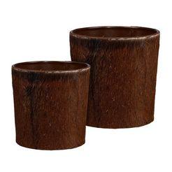 creativ home sierpot bergweide (set, 2 stuks) bruin